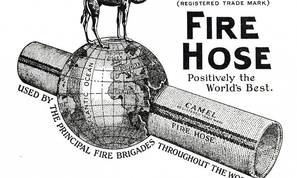 UFBA old Camel fire hose advert in annual